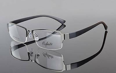 Mens Fashion Half Rimless METAL Eyeglasses Frames Optical Eyewear Rx 2264