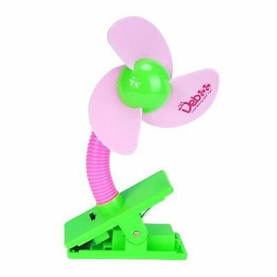 Cozyswan Baby Pushchair Cot Buggy Pram Mini Safety Clip-on Fan (Pink) NEW