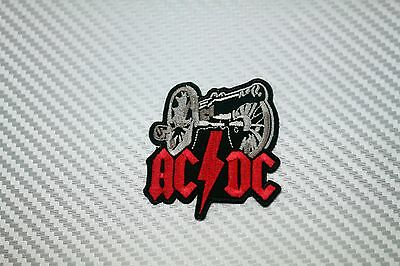 Embroidered Patch Iron Sew Logo Emblem Custom Hardcore Rare AC DC NEW 8