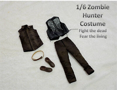 """1/6 Scale Clothes Suit The Walking Dead Daryl Dixon For 12"""" Action Figure"""