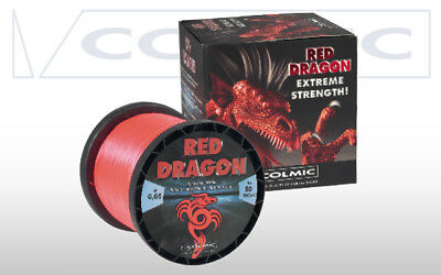 Monofilo Invisibile Red Dragon Colmic Rosso 0.65Mm 50Lbs 600Mt