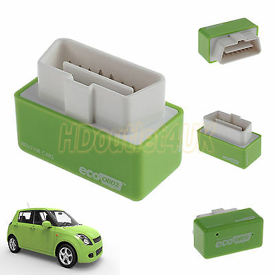 Universal Eco OBD2 Performance Chip Tuning Box for Petrol Cars Plug and Drive UK
