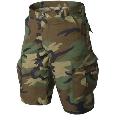 Helikon Us Army Genuine Bdu Combat Military Style Mens Shorts Work Wear Woodland