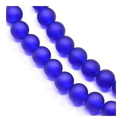 Glass Round Beads 4mm Blue 195+ Pcs Frosted Art Hobby Jewellery Making Crafts