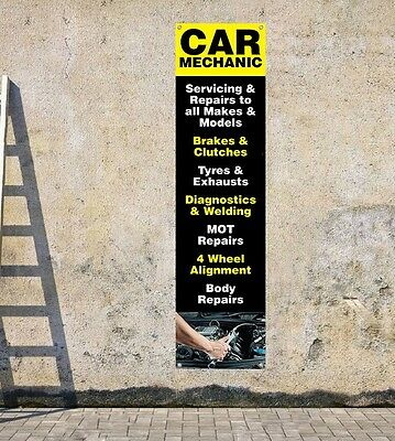 CAR MECHANICS & SERVICING D1 workshop, garages - portrait pvc banner