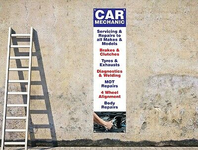 CAR MECHANICS & SERVICING D2 workshop, garages - portrait pvc banner