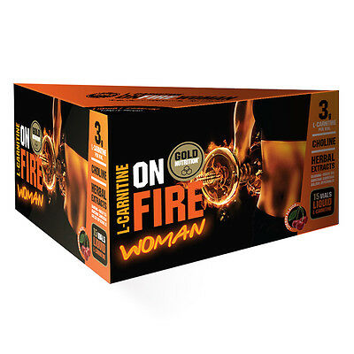 Termogenico Onfire Woman L-Carnitine 15 Viales Sabor Cereza - Gold Nutrition