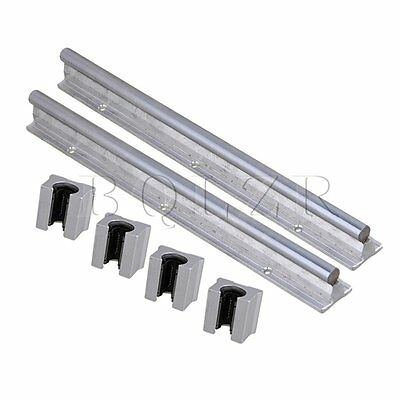 6pcs Open Linear Bearing Slide and 12mm Shaft Dia 300mm Linear Bearing Rail