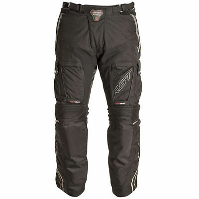 RST Adventure II 2 Black Motorcycle Motorbike Textile Trousers | All Sizes