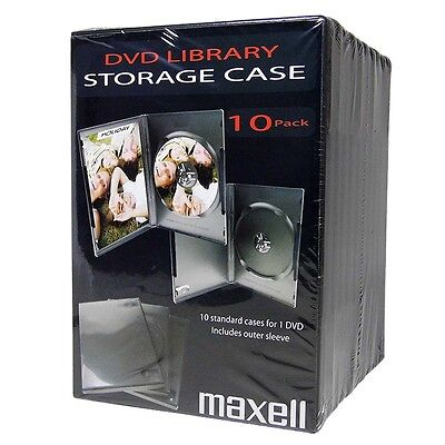 DVD Library Case 14mm 10 Pack