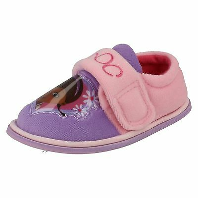 Disney Doc Daisy Girls Slippers Pink/Lilac UK Sizes 4 to 9 (R43B)