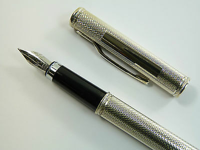 NEW - Solid Sterling Silver Fountain Pen - The PULSE