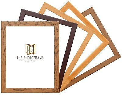 Dark Oak Pine Mahogany Beech Picture Frame  Wood Effect Various Sizes Square
