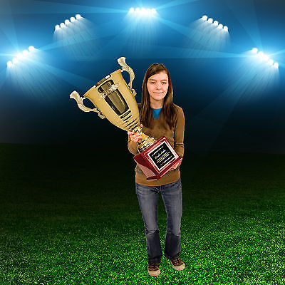 """GIANT 26"""" GOLD TROPHY CUP  Fantasy Football SUPER TALL  FREE  ENGRAVING"""
