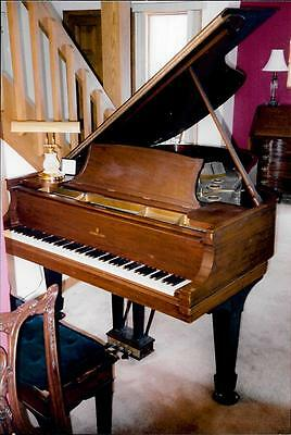 Antique 1912 6 Foot Mahogany STEINWAY AND SONS Model A Grand Piano with Bench
