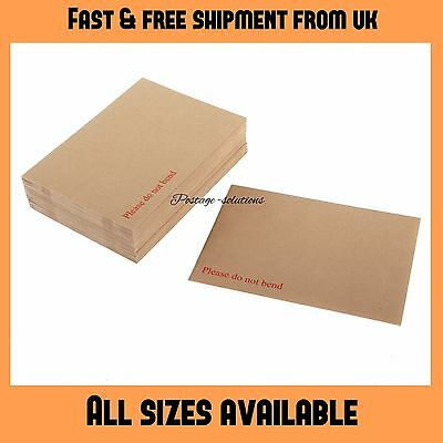 Board Backed Envelopes Do Not Bend A3 A4 A5 A6 C3 C4 C5 C6 Quick Delivery 600gsm