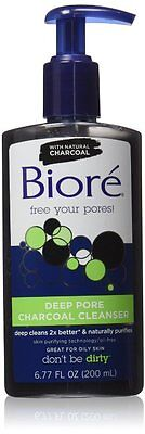 Biore Deep Pore Charcoal Cleanser, 200 ml Brand NEW & FAST Delivery