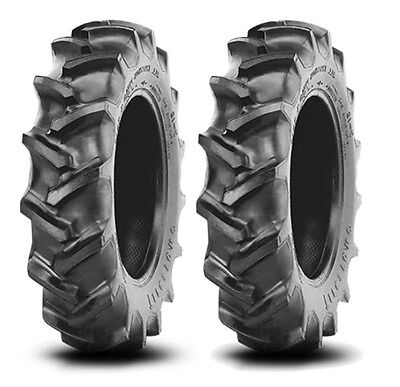 2 New Ford 12.4-24 Rear Tractor Tires Firestone Look-A-Like FREE Shipping **