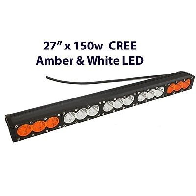 "27"" amber white led Recovery truck 4wd light bar warning light 150w Combo Beam"