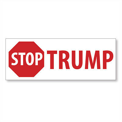 1 Stop Trump 2016 - Anti Donald Trump Blue Bumper Sticker - FREE SHIP!