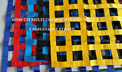 60X60CM WINDOW NET Rally Racing Car Race Safety Motorsport RIBBON Net BORDER