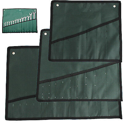 8 10 14 Pocket Canvas Spanner Wrench Tool Roll Up Storage Bags Organizer