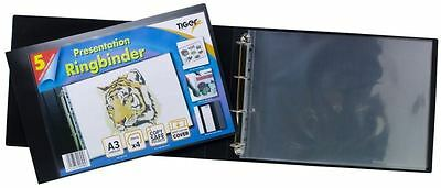 A3 Deluxe Landscape 4-D Ring Binder Folder File Art Presentation Portfolio