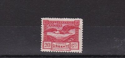 Spanish  Andorra 1929  S G E26 Express Letter 20C Scarlet With Contro  L / M / H