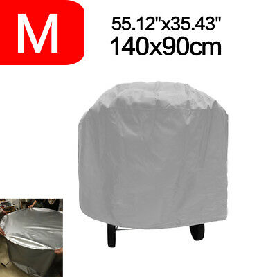 140CM Large Round BBQ Gas Grill Barbecue Cover Waterproof Protection Outdoor S