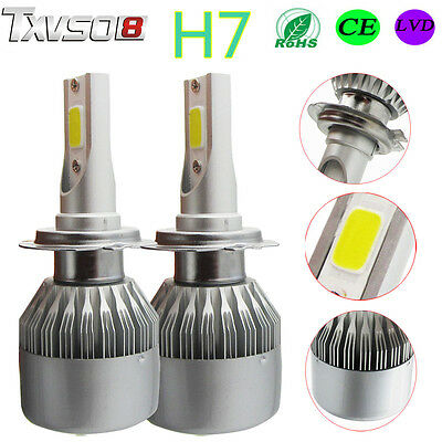 2x55W H7 CREE LED Ampoule Phare Light Headlight Kit Voiture Feux Car Lampe 6000K