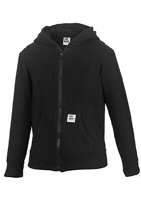 Girls Black M&S Full Zipped Indigo Longsleeve Fleece Hoodie Cardigan Jacket.