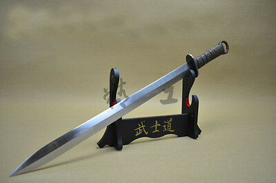 Chinese Longquan Double blade Han sword High manganese steel Blade #1645