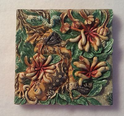 Picturesque Byron's Secret Garden - A Harmony Kingdom Tiles - A Frog's Life
