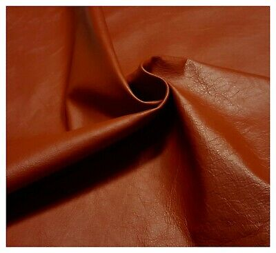 Leather Cow Hide Auto Dark Orange Automotive Upholstery Cowhide Craft TS-7882