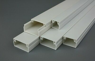 Self Adhesive Electrical Cable Trunking Wire Conduit Channel Tidy Plastic Cover