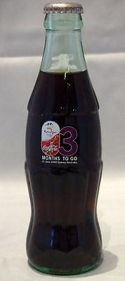 """2000 Sydney Olympics Coca Cola Bottle - """"5 Months To Go"""" -  Month 3"""