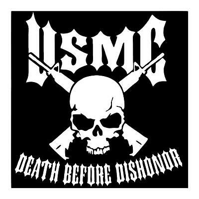 Usmc Death Before Dishonor Marine Corp 6X6 Vinyl Car Truck Window Sticker Decal