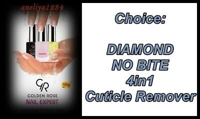 GOLDEN ROSE Nail Expert:DIAMOND, NO BITE, 4in1,Cuticle Remover, NEW