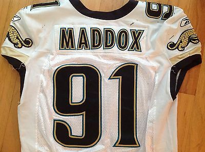 2006 Jacksonville Jaguars Game Worn Used Jersey Anthony Maddox #91