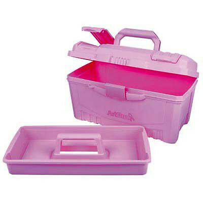 Artbin Twin Top Art Box - Carry Case Plastic Caddy Storage RARE PINK!