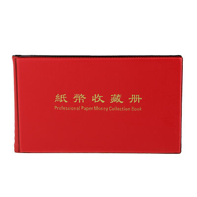 Album Pocket Wallet Currency Paper Money Banknote Collection 20 Notes Pages