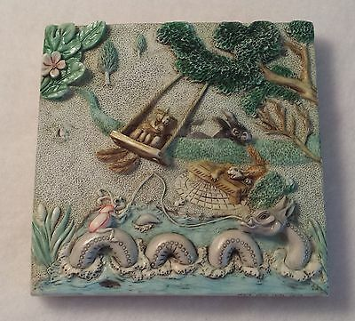 Picturesque Byron's Secret Garden - Harmony Kingdom Tiles - Swing Time