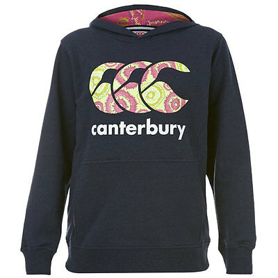 Canterbury Girl's Princess Seam CCC Logo Hoody Navy