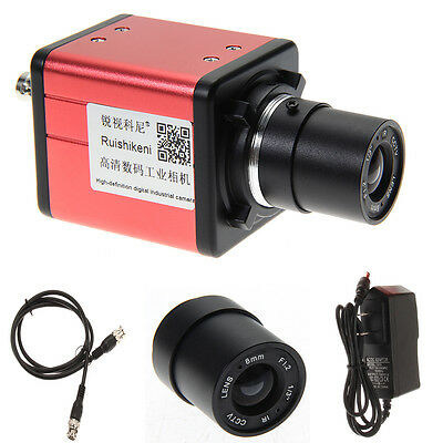 14MP TV USB Industry Digital C-mount Microscope Camera TF Video Recoder DVR+Lens