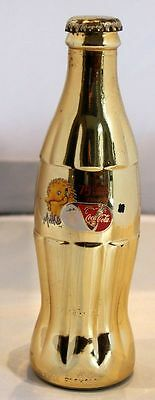 2000 Sydney Olympics Gold Coca Cola Bottle - 75 Drinks To Go -  2Nd July 2000