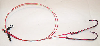 """2Pk Afw Ready Made Surflon Bleeding Leaders With Hook 18"""" Pick Size--"""