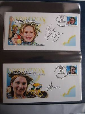 2004 Australian Olympic 17 Personally Signed  Gold Medallist First Day Cover