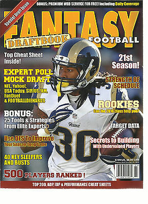Fantasy Football  Draft Book,2016   Special Draft Issue ( 500 Players Ranked ! )