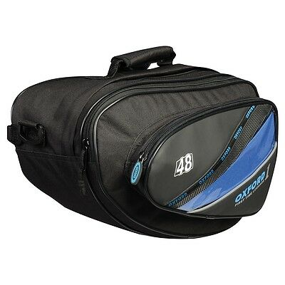 Oxford 1st Time Sports Panniers - 48L Universal Motorcycle Saddlebags - OL434