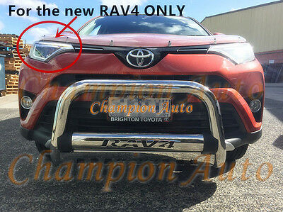 NEW Toyota RAV4 2016 2017 + 3'' Stainless Steel Nudge Bar (Oct 2015 - Current)